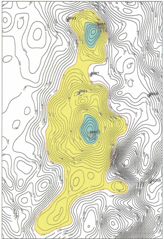 Рис.12. Южно-Иусское и Верхнеиусское месторождения