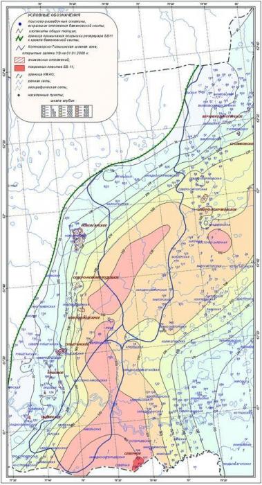 Рис. 7. Карта общих толщин клиноформного резервуара БВ11