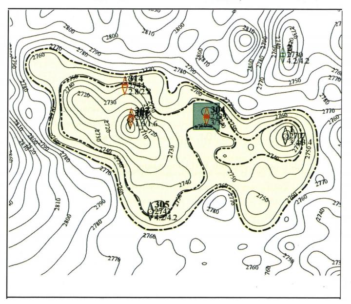 Бинштоковское месторождение, пласт Ю2
