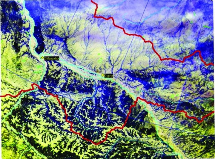 Рис.1. Трансрегиональное космическое фотоизображение ХМАО – Югры