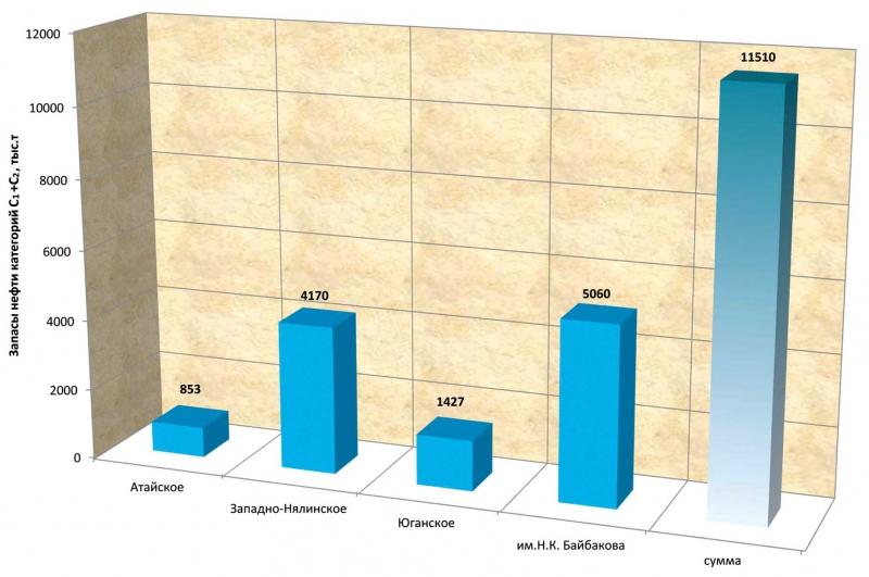 Извлекаемые запасы месторождений, открытых в 2010 году
