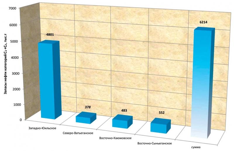 Извлекаемые запасы месторождений, открытых в 2013 году
