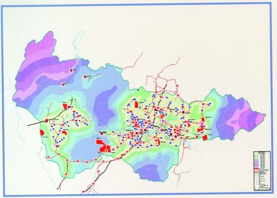 Рис.2. Карта рентабельности освоения нефтяных месторождений территории ХМАО.