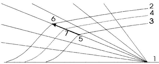 Рис. 4. Вектора смещения (линейной гомотопии)