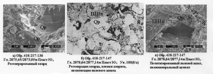 Рис.8. Эпигенетические изменения в породах