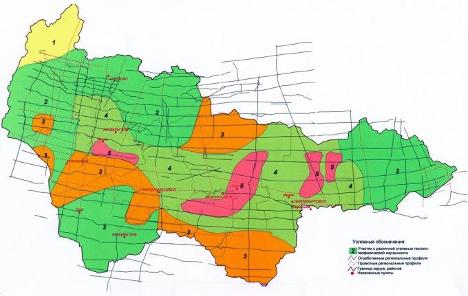 Рис.2. Геолого-геофизическая изученность территории ХМАО