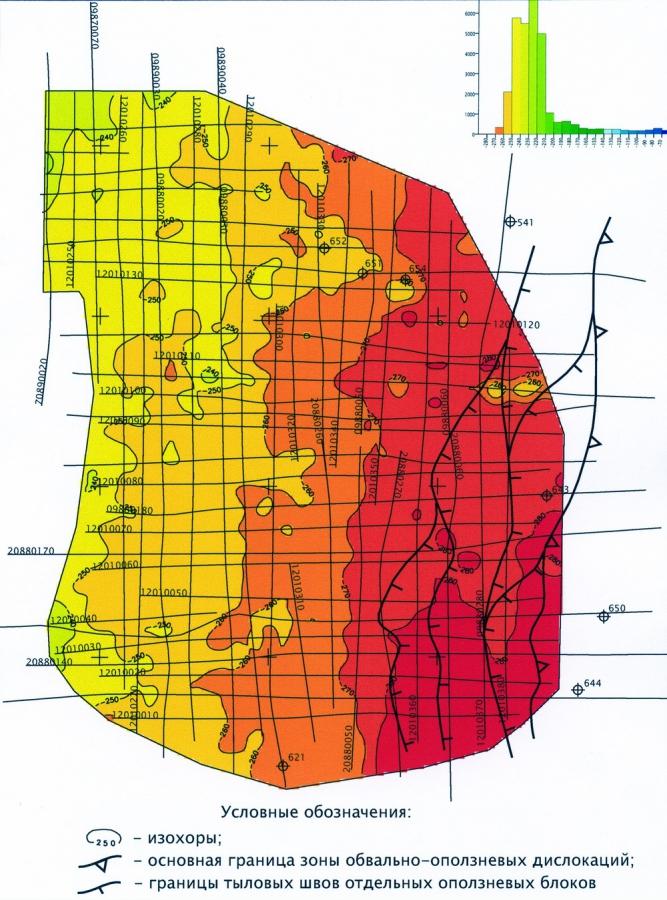 Рис.2. Карта ∆Т интервала Б-НАС7