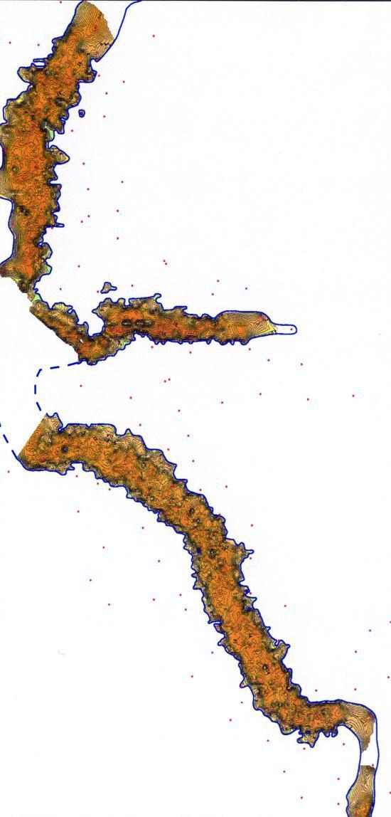 Рис.4. Карта эффективных толщин отложений седиментационного цикла 1 пласта ЮК11
