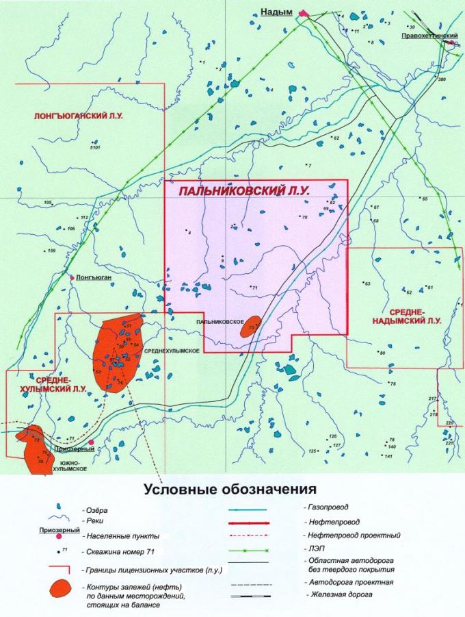 Рис.1. Пальниковский лицензионный участок. Обзорная карта