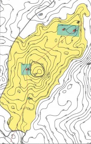 Рис.1. Сергинское и Северо-Сергинское месторождения, пласт Ю100