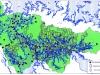 Рис.2. Зона затопления территории округа при 50-метровом уровне Мирового океана