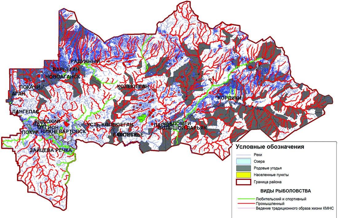 Карта-схема рыбопромысловых